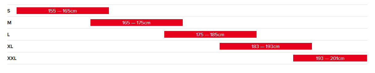 Veľkostná tabuľka - SANTA CRUZ HIGHTOWER