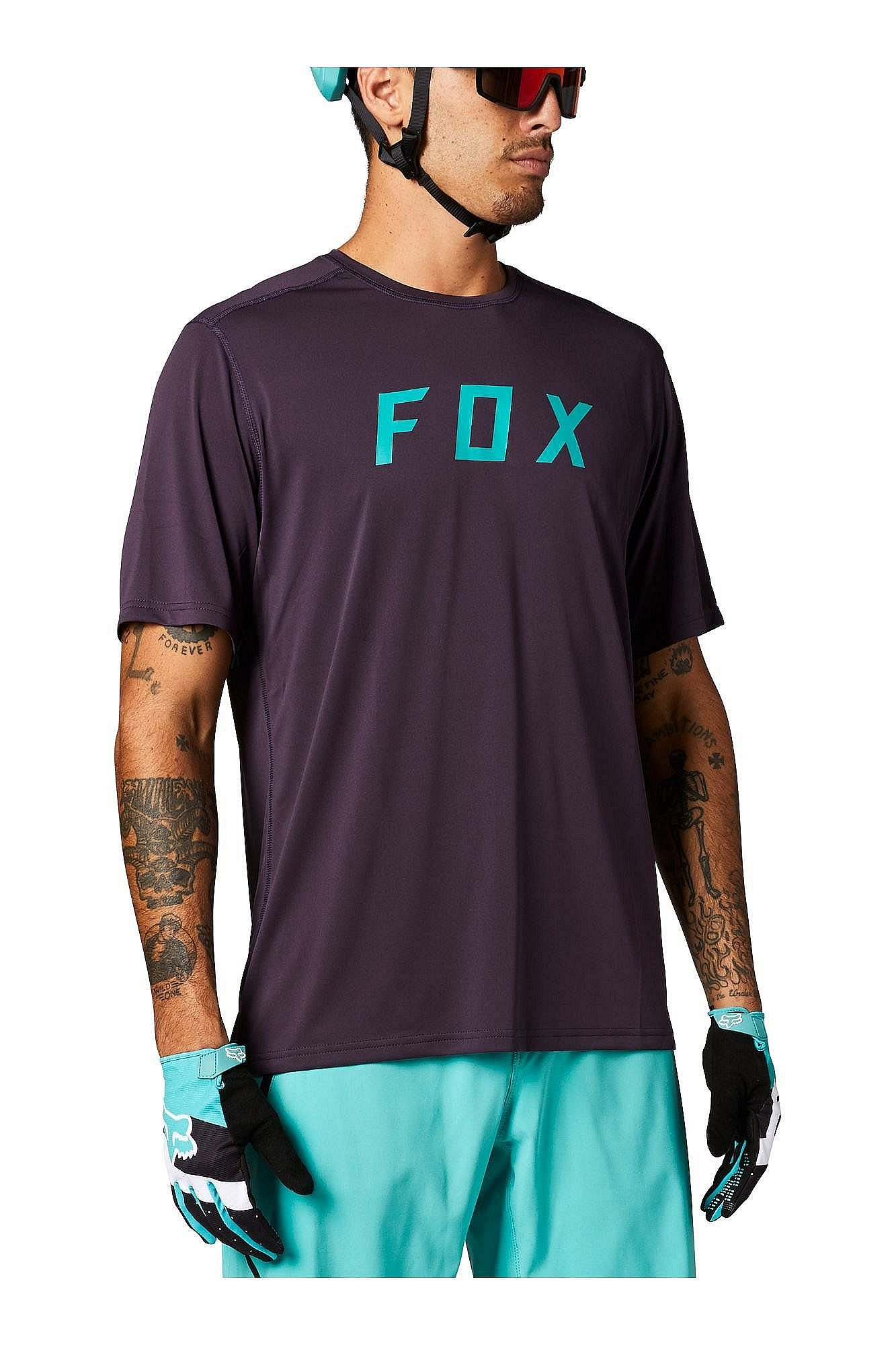 Fox Ranger Ss Jersey Fox, dark purple