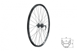 "Zapletené koleso predné KLS DRAFT DSC F, 27,5"", black"