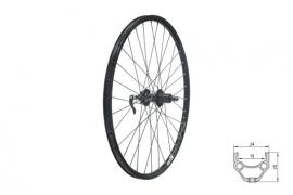 "Zapletené koleso zadné KLS DRAFT DSC R, 26"", black"