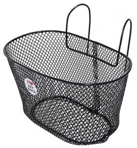 Detský košík, 230 mm x 175 mm x 140 mm, oceľ, na detský bicykel, čierna