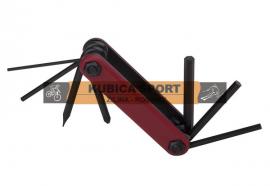 Multikľúč, PRO-T, 7 funkcií, čierna/červená