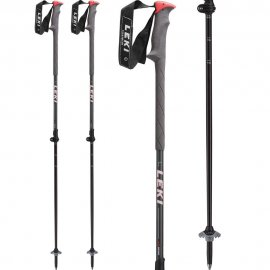 Palice LEKI Hurricane Vario anthracite metallic/black-grey-neonred (89) 110-140