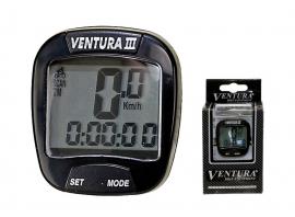 Káblový tachometer VENTURA III, čierny, 6F