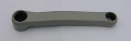 Kľuka ľavá oceľ/plast 170 mm, sivá
