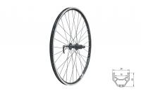 """Zapletené koleso zadné KLS DRAFT R, 26"""", black"""