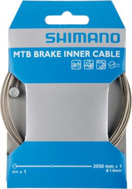 Brzdové lanko SHIMANO, MTB, nerez, 2050x1,6 mm