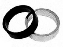 Dištančný krúžok 8mm čierny