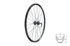 "Zapletené koleso predné KLS DRAFT DSC F, 26"", black"