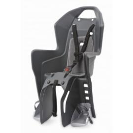 Detská sedačka POLISPORT KOOLAH, 3 bodová, na nosič, tmavo sivá/strieborná
