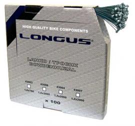 Brzdové lanko LONGUS MTB, 2000 mm, box 100 ks