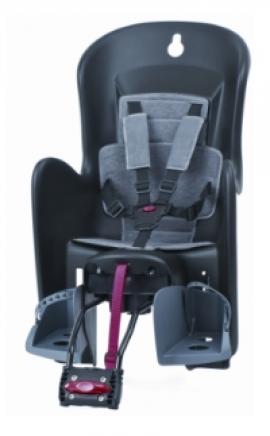 Detská sedačka POLISPORT BILBY RS, 5 bodová, čierna/šedá