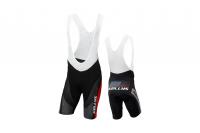 Cyklistické nohavice KELLYS PRO Race, s trakmi, red