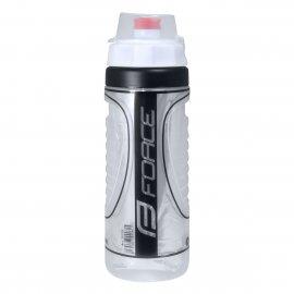 Fľaša FORCE HEAT 0,5l, termo, biela/čierna
