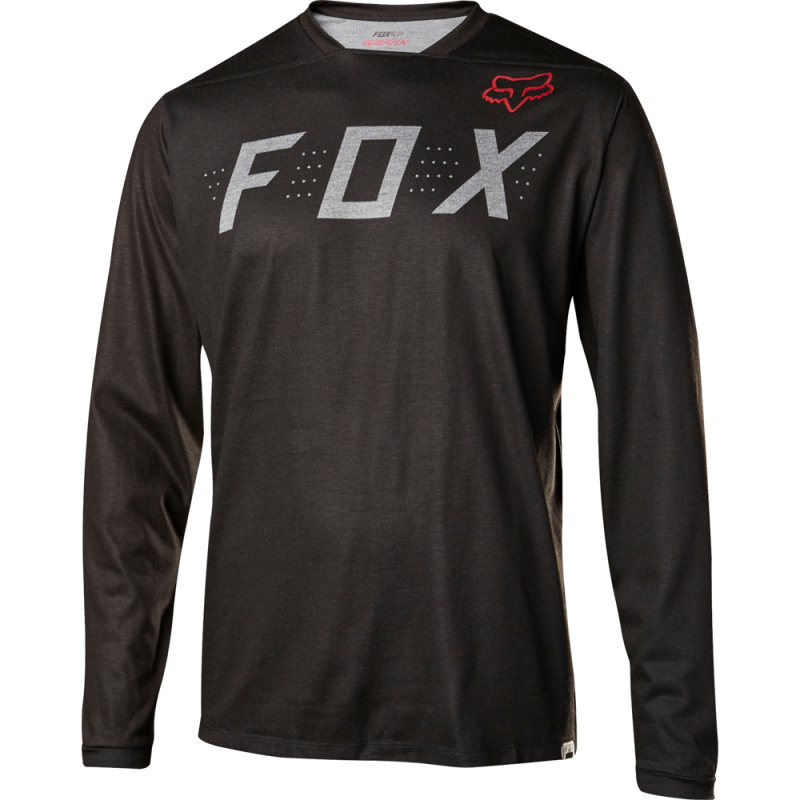 Dres FOX INDICATOR LS JERSEY, Heather Black