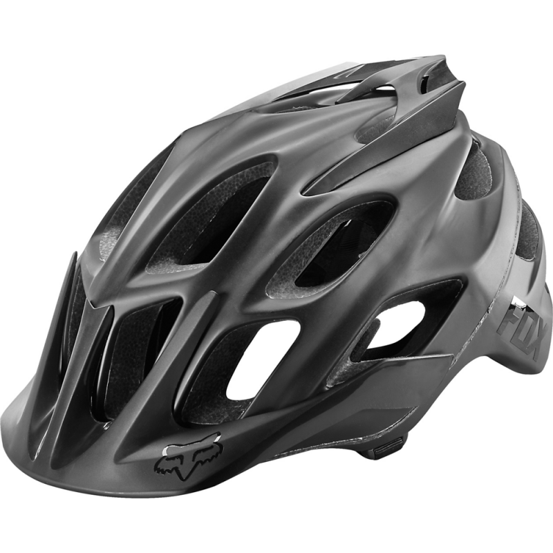 Prilba FOX FLUX MATTE BLACK HELMET, Matte Black