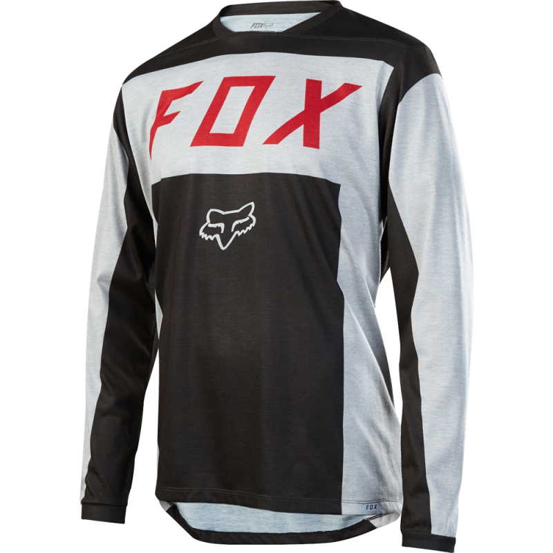 Dres FOX INDICATOR LS MOTH JERSEY, Light Grey
