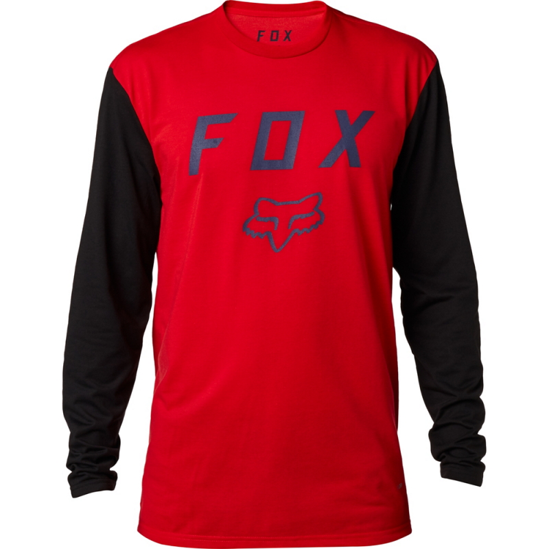 Tričko FOX CONTENDED LS TECH TEE, Dark Red