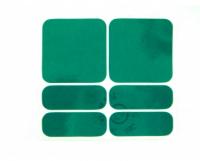Nálepky SHAMANRACING, reflexné, zelená, 6KS