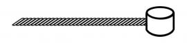 Brzdové lanko PROMAX, nerez, koncovka 7x6 mm, cena za 1 ks