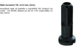Niple mosadzné TW, 2x14 mm, čierne