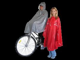 Pršiplášť-PONCHO cyklist.pre dosp.,červený,veľ.uni