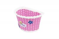 Košík na riadidlá , detský plastový, ružový
