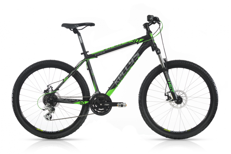 "KELLYS Viper 30 Black Green 26""  2017, 15,5"" (395 mm)"