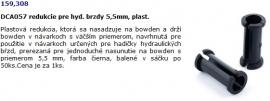 DCA057 redukcie pre hyd. brzdy 5,5mm, plast.