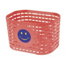 Detský košík, smajlík, červený