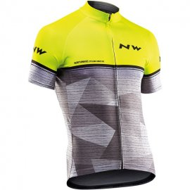 Northwave ORIGIN jersey short sleeves, yellowfluo/grey