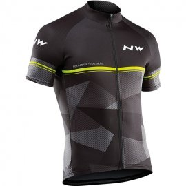 Northwave ORIGIN jersey short sleeves, black/yellowfluo