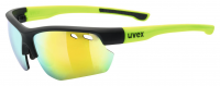 UVEX sportstyle 115, black mat yellow, (S0),(S1),(S3)