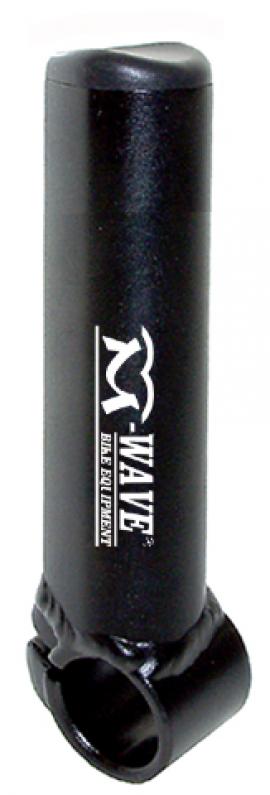 Rohy M-WAVE, Al, krátke, matná čierna, 105 mm