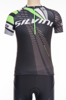 Detský dres SILVINI TEAM CD1435, black-green, 122-128