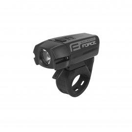 Svetlo predné FORCE BUG-400 USB, čierne