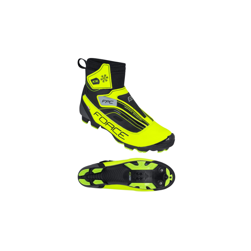 Tretry FORCE ICE MTB zimné, fluo