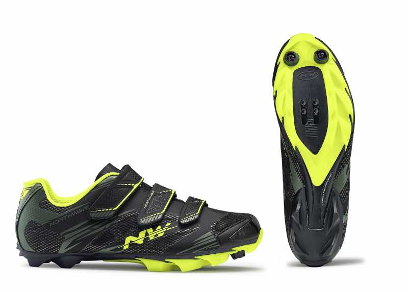 Tretry NORTHWAVE Scorpius 2, black/military/yellow fluo