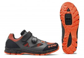 Tretry NORTHWAVE Terrea Plus Woman, anthracite/lobster orange