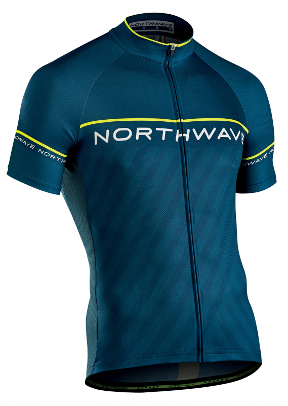 Dres NORTHWAVE Logo 3, SS, blue/yellow fluo