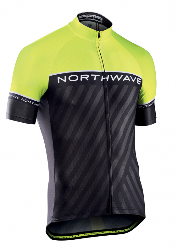 Dres NORTHWAVE Logo 3, SS, black/yellow