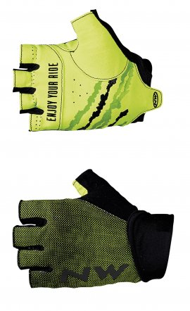 Rukavice NORTHWAVE MTB AIR 3, black/yellow fluo