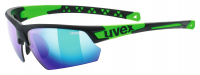 UVEX sportstyle 224, black mat green, (S3)
