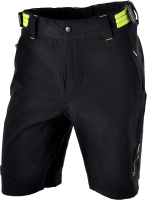 Nohavice SILVINI ELVO MP809, black-lime, 3XL