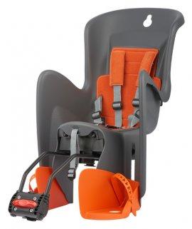 Detská sedačka POLISPORT BILBY RS, 5 bodová, šedá/oranžová