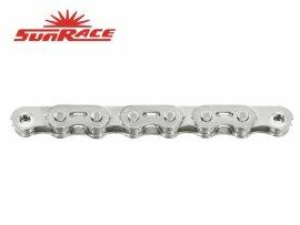 Reťaz SUNRACE CNX46 BMX, strieborná, 102 čl