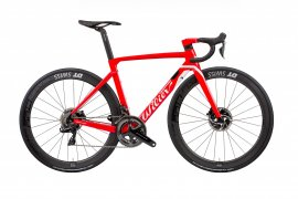 WILIER CENTO10 AIR DISC  2018, red/white, veľ.  L, ALABARDA aerobar, Ultegra Di2 -TESTOVACí BIKE