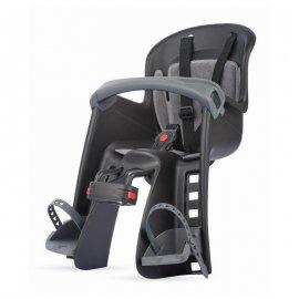 Detská sedačka POLISPORT BILBY JUNIOR, predné uchytenie, čierno/sivá