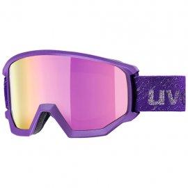 Lyžiarske okuliare UVEX Athletic FM, dark violet mat mirror pink, (S3)