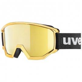 Lyžiarske okuliare UVEX Athletic FM, chrome gold litemirror gold, (S3)